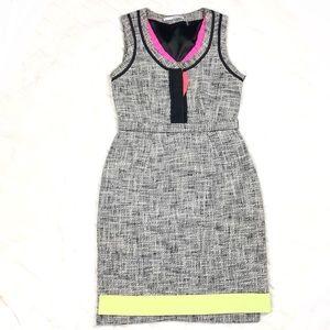T Tahari Tweed Dress w/ Neon Trim, 2P.